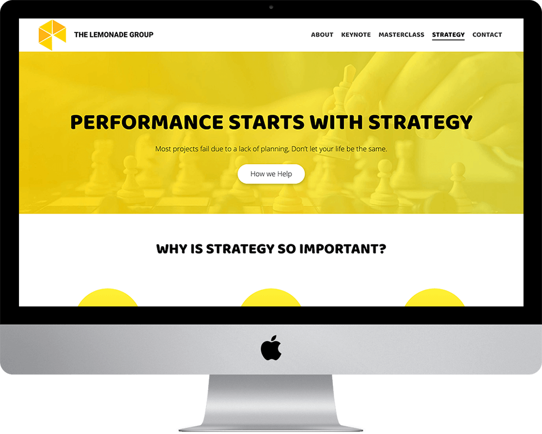 Lemonade Group by professional Web Design in Eastbourne